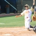 Justin Barrenenche scores the Gators first run of the game.